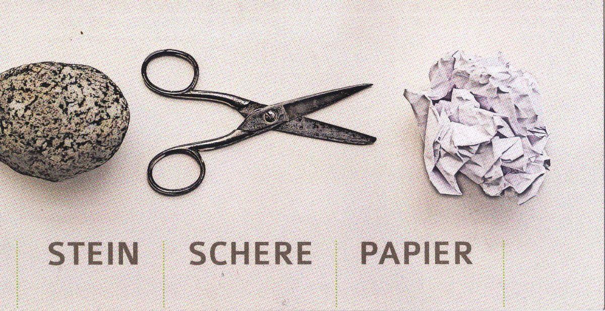Schere Stein Papier Gewinnen