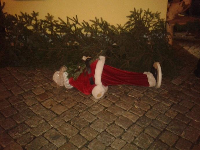 Schneeberg Toter Weihnachtsmann