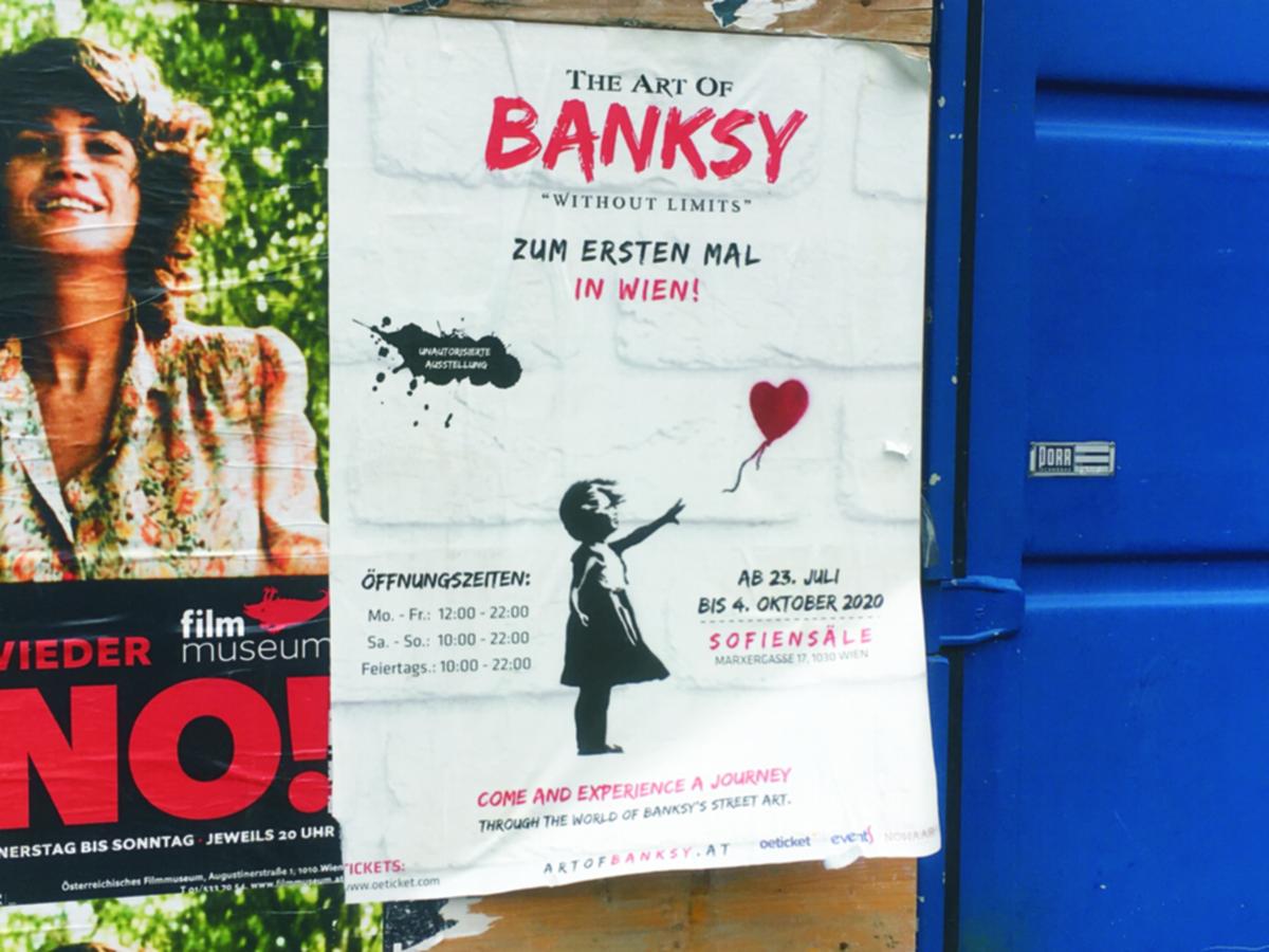 Ankündigung zur Ausstellung The Art Of Banksy in Wien
